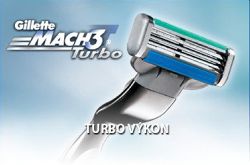 GILLETTE MACH 3 Turbo 8 ks